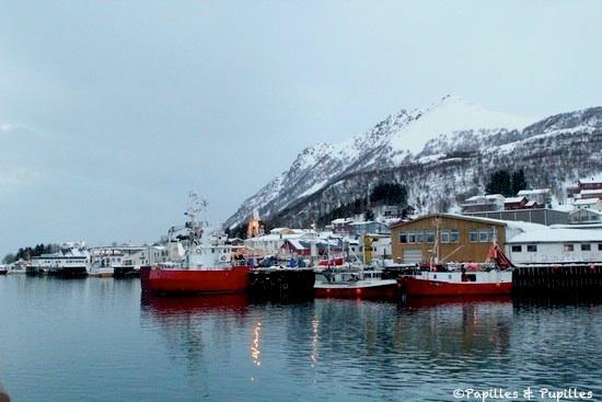 Dans le port de Myre, Norvège