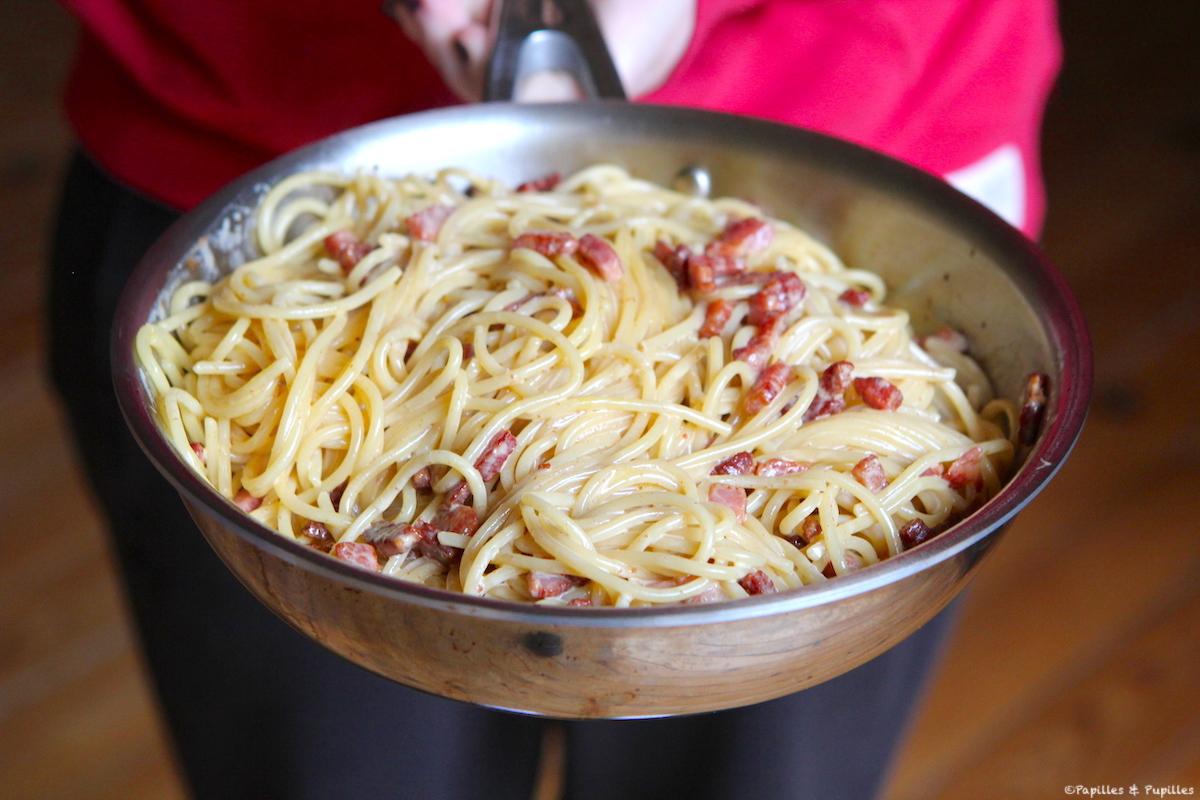 Pâtes à la carbonara (version crème)