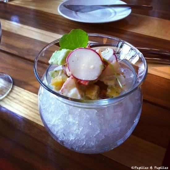 Tartare de homard, avocat et pamplemousse - Restaurant Toqué, Montréal