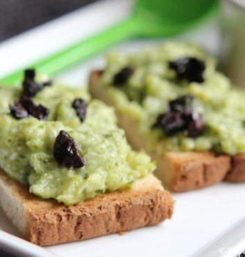 Tartinade courgettes féta olives noires