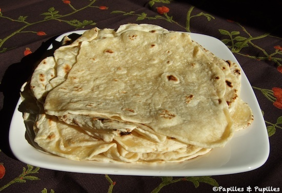 Tortillas mexicaines galettes de bl ou de ma s - Comment faire des tortillas ...