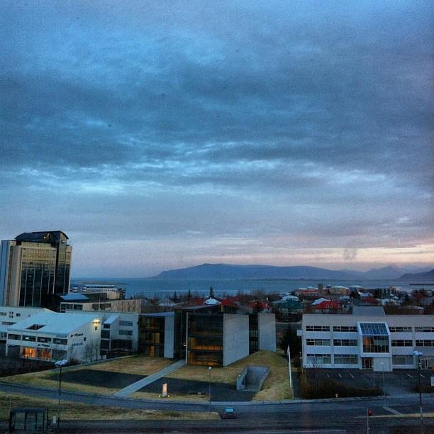 Lever de soleil sur Reykjavik