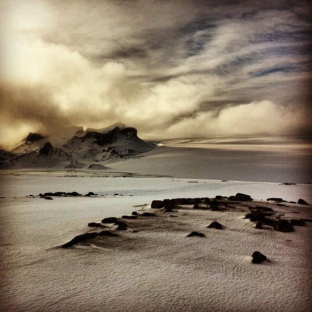 Sur le glacier - Islande