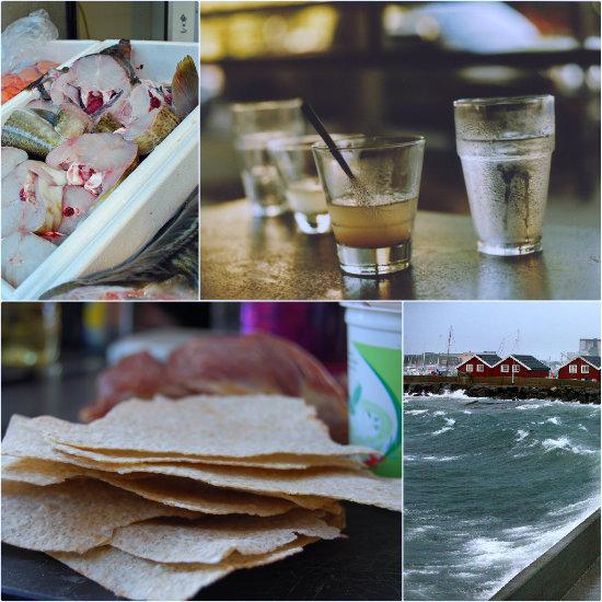 Darnes de skrei, aquavit, Flatbrod et Tromso