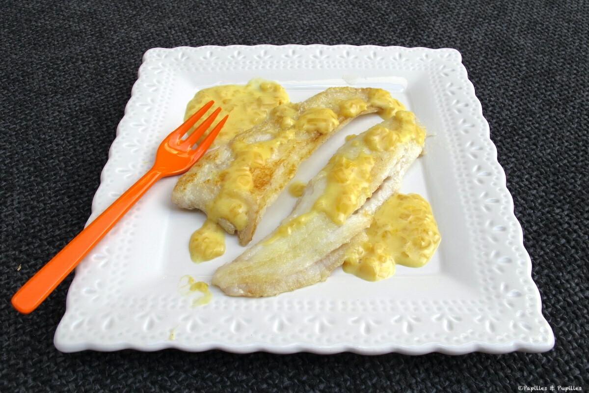 Filets de carrelet, sauce à l'orange