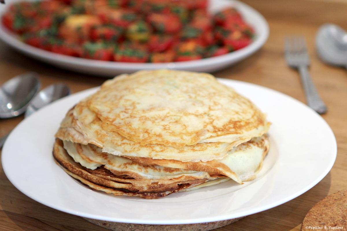 Pancakes aux oignons de printemps