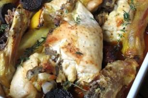 Poulet au chorizo, au citron et au thym