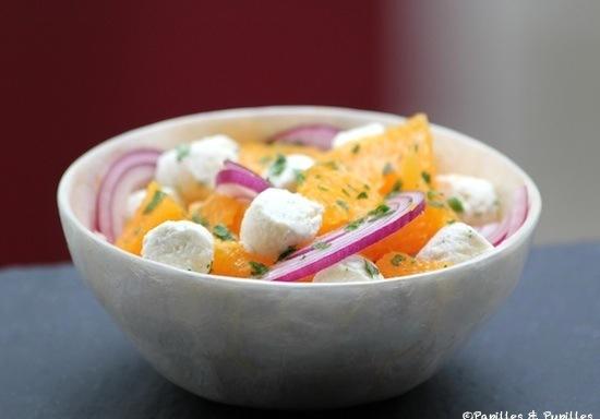 recette salade d 39 oranges oignon rouge et fromage frais. Black Bedroom Furniture Sets. Home Design Ideas