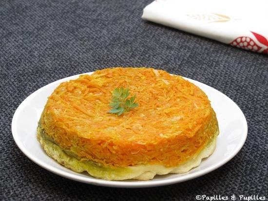 Tarte Tatin aux carotte, fenouil et à l'ail des ours