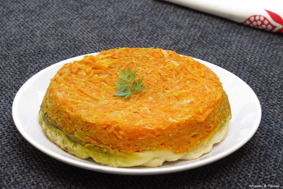Tarte Tatin carottes fenouil au pesto d'ail des ours