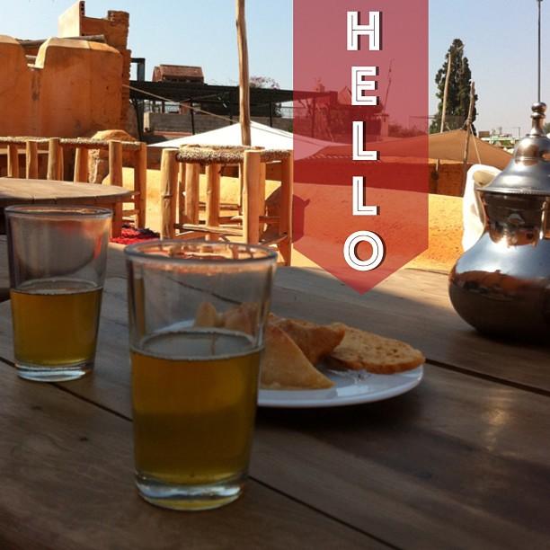 Thé à la menthe sur les toits de Marrakech