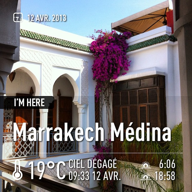 Médina, Marrakech - 19 degrés à 9h30 - il va faire chauuuuud #instaweatherpro #marrakechmédina #maroc