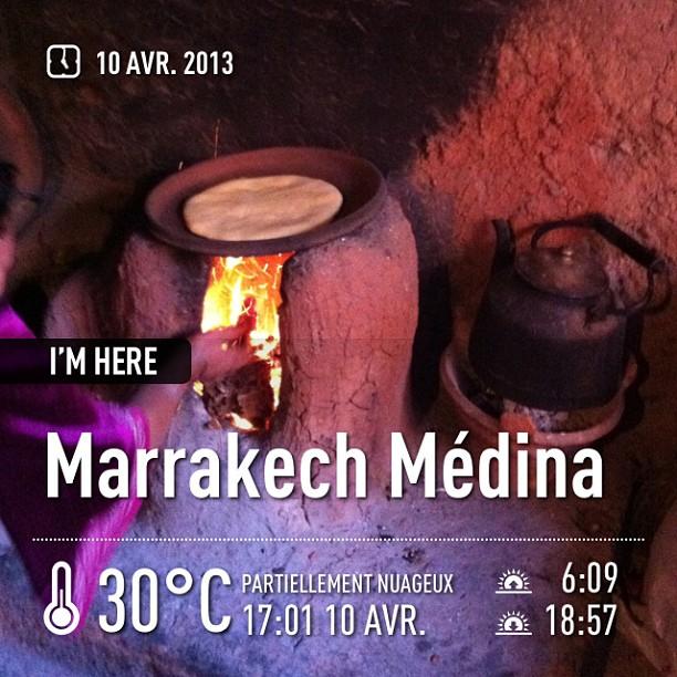 Cuisson du pain marocain