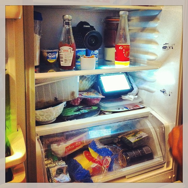 Shooting in my fridge !