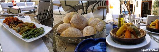 Cafe Arabe - Crudités et couscous légumes