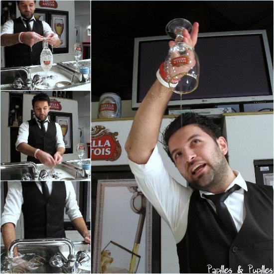 Comment tirer une pinte  - on lave bien le verre