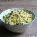 Semoule de blé (couscous printanier) aux herbes pistaches et citron
