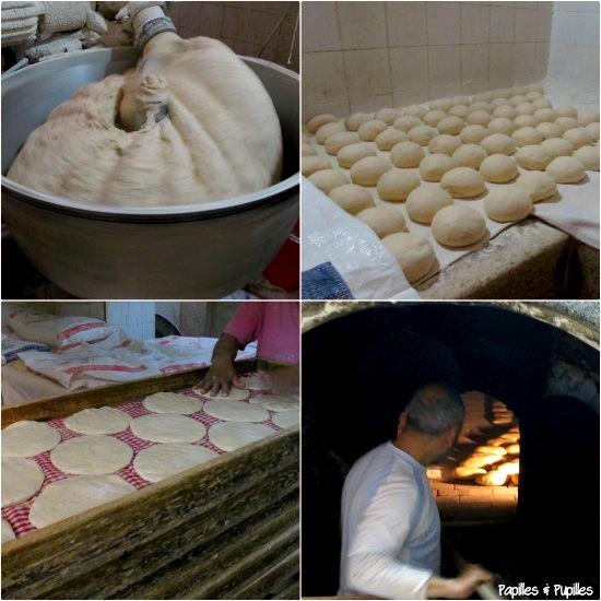 Fabrication du pain dans la Medina