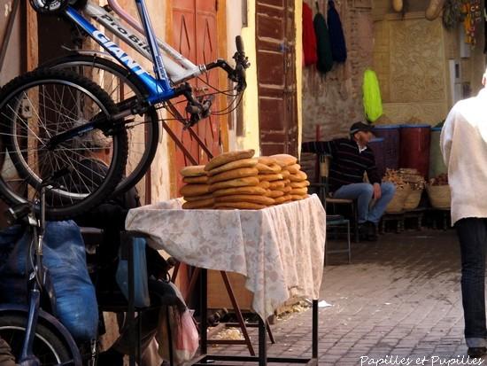 Pains marocains dans les souks