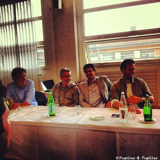 Pierre Marcolini, Philippe Urraca, Christophe Adam et Christophe Michalak
