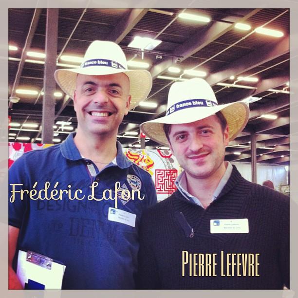 Membres du jury - championnat du monde de cannelés : F. Lafon (l'oiseau Bleu) et P. Lefèvre (masterchef)