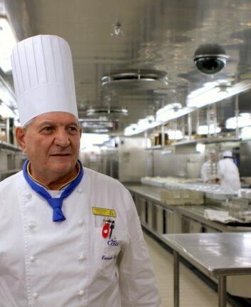 Antonio di Luca, chef des cuisines du Costa Mediterranea