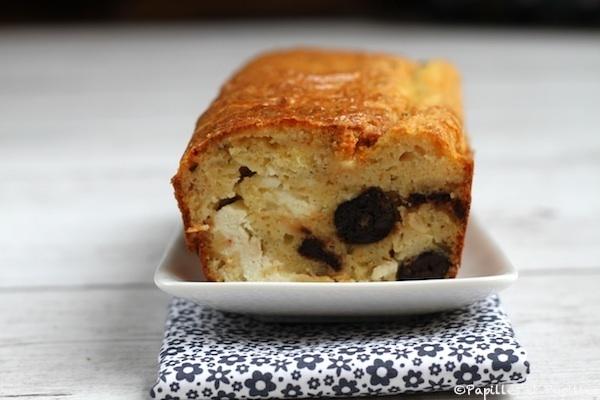 Cake feta olives noires