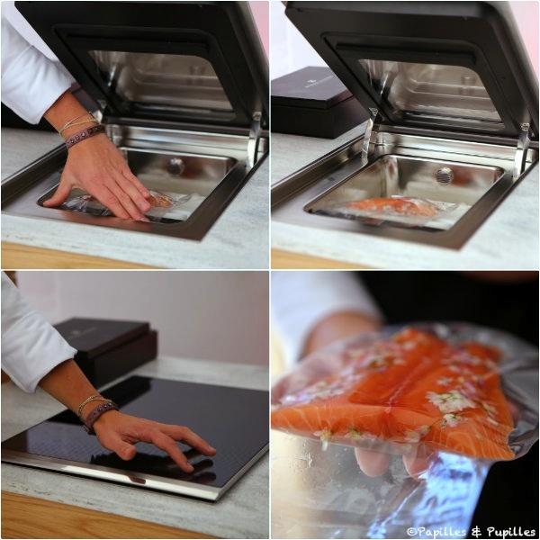 Cuisson du saumon sous vide