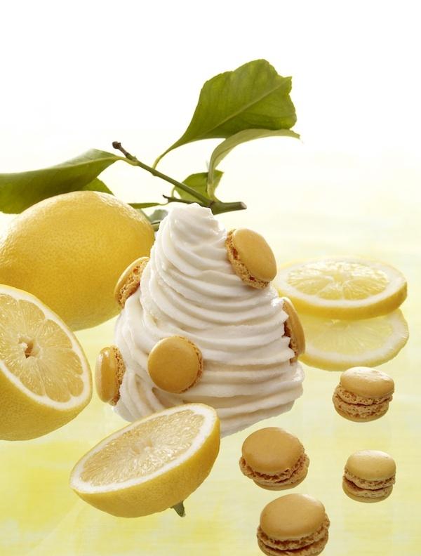 Glace au macaron infiniment citron