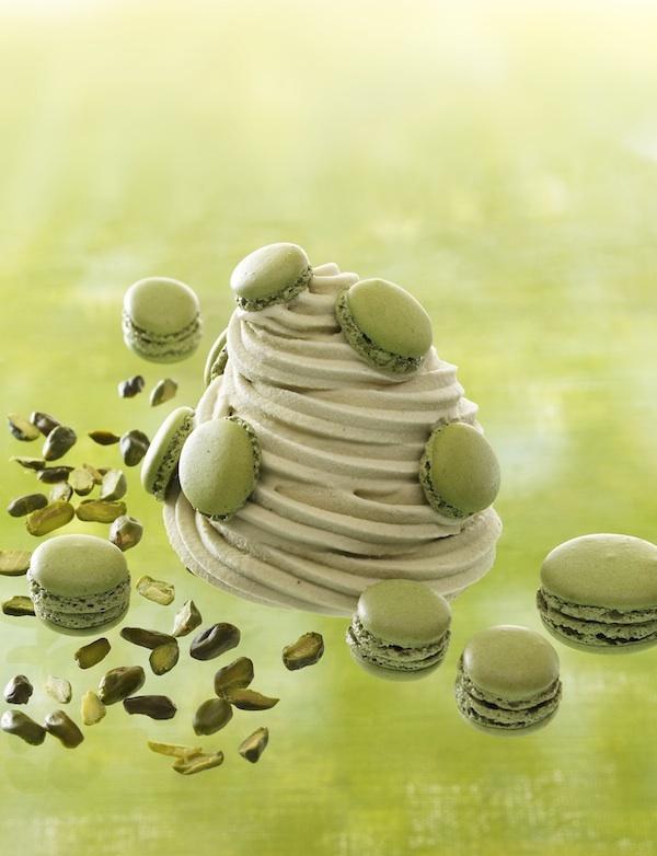 Glace au macaron infiniment pistache