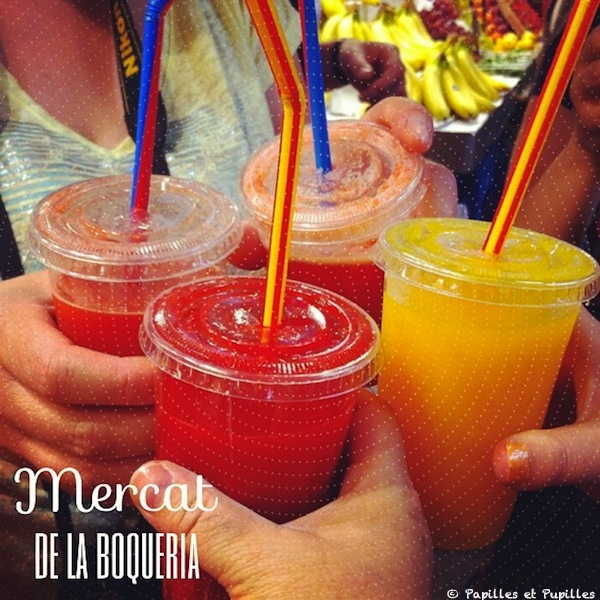 Jus de fruits - Marché de la Boqueria - Barcelone