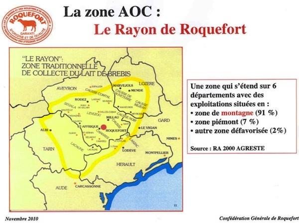Zone AOC Roquefort