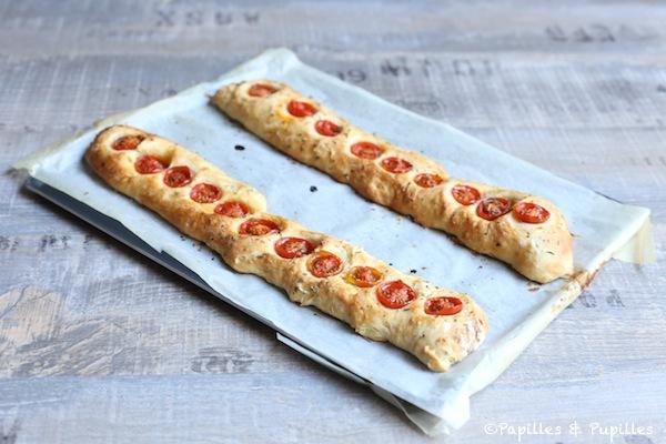 Baguettes aux tomates cerises - sans pétrissage
