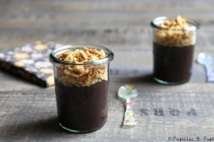 Crumble Danette chocolat extra noir amandes effilées
