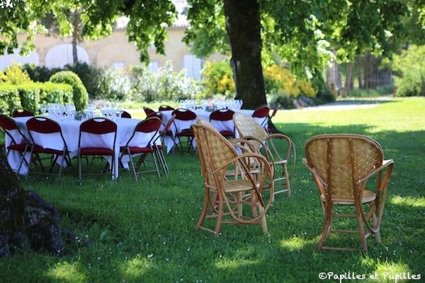 Déjeuner champêtre à Château Guiraud