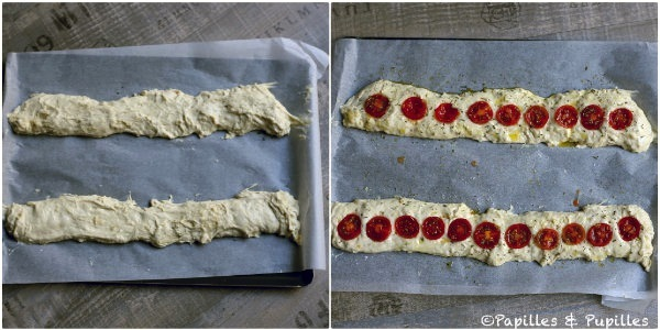 Façonnage puis avec les tomates cerises