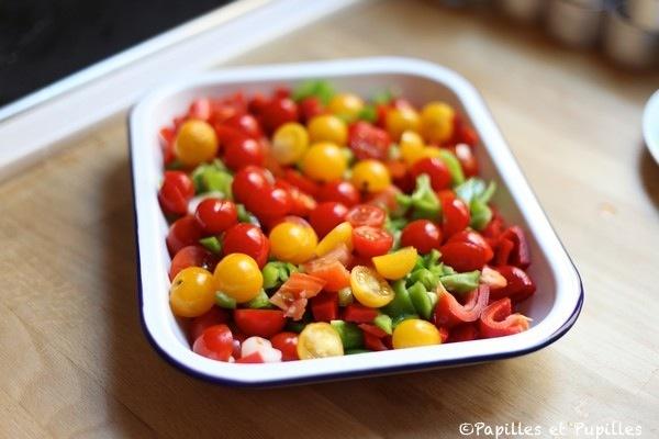 Gratin legumes mozzarella avant cuisson