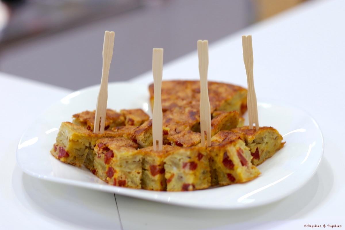 La tortilla aux chips et au chorizo