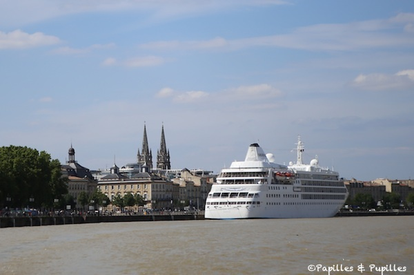 Paquebot sur la Garonne