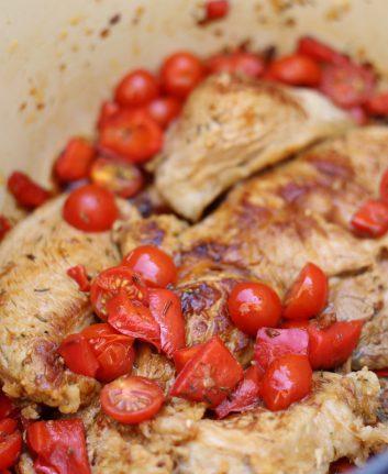 Quasi de veau aux tomates et poivrons