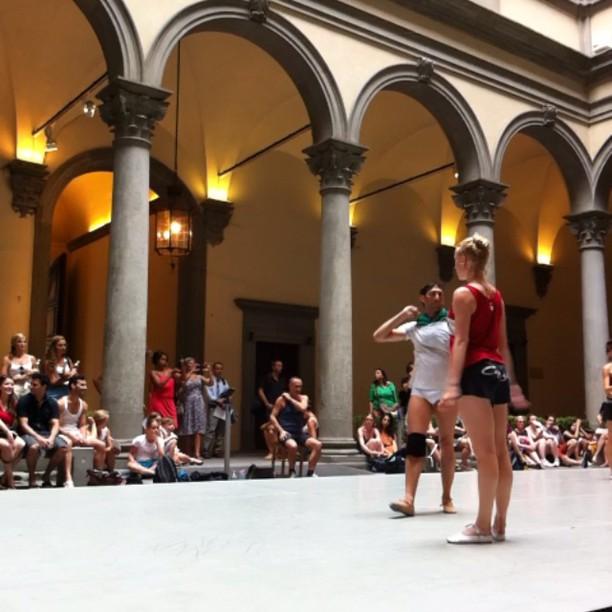 Cours de Danse au palais Strozzi, Florence, Italie