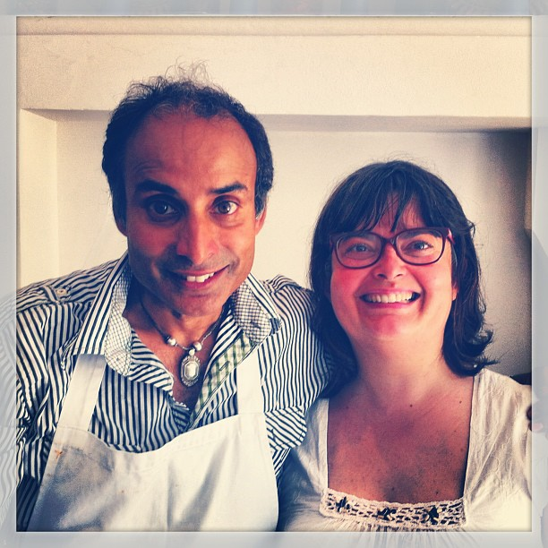 The famous Indian chef Reza Mahammad and I - Chez Cartier !