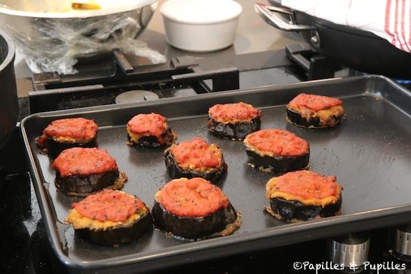 Aubergines nappées de sauce tomate