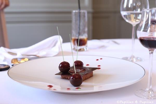 Chocolat et griottes dans l'esprit d'un Mon Chéri
