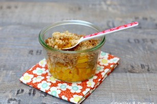 Crumble mangue gingembre