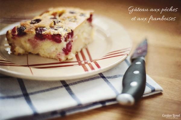 Gâteau Pêche et Framboises - Lionel Cerdan