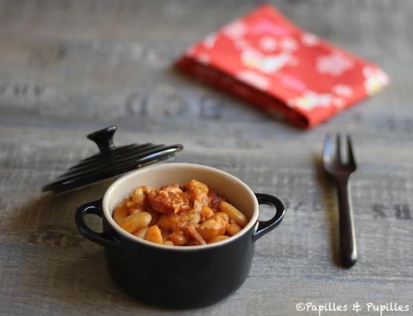 Haricots Tarbais au chorizo et à la sauce tomate