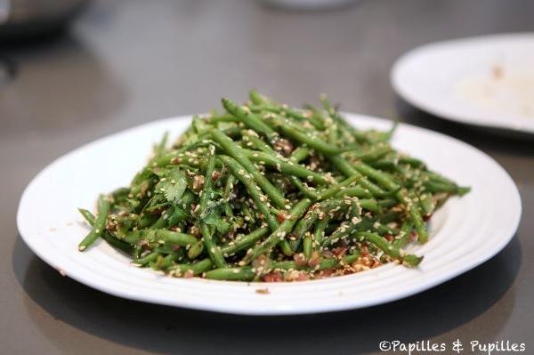 Haricots verts aux graines de sésame