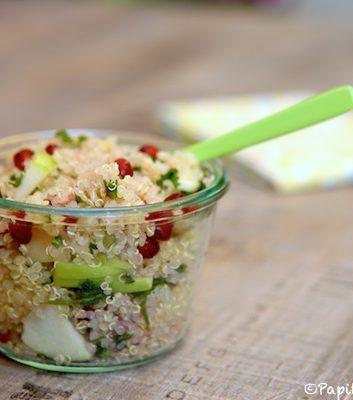 Salade de quinoa, grenade et pomme Granny