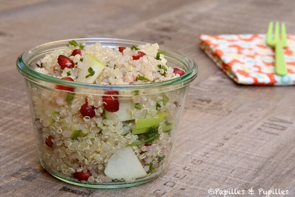 Salade de quinoa pommes granny et grenade